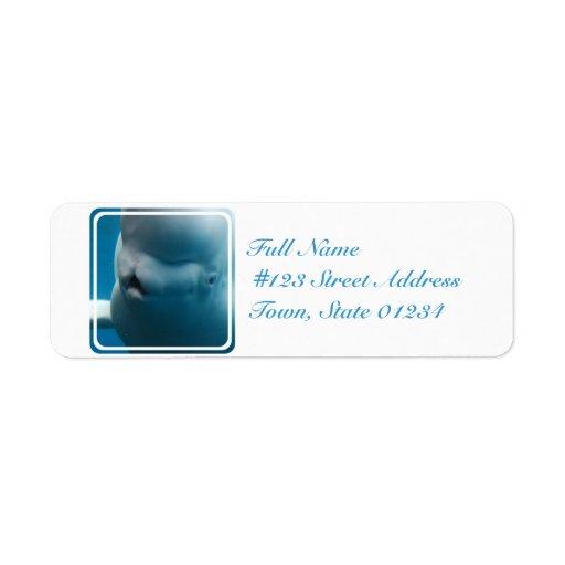 Silly Beluga Whale Custom Return Address Label