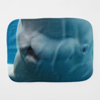 Silly Beluga Whale Burp Cloth