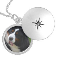 Silly Bernese Mountain Dog Custom Necklace