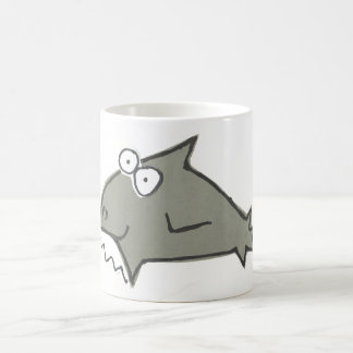 Silly Big Toothes Shark Coffee Mug