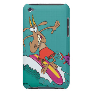 silly billy goat surfing surfer cartoon iPod touch Case-Mate case