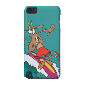 silly billy goat surfing surfer cartoon iPod touch (5th generation) cases