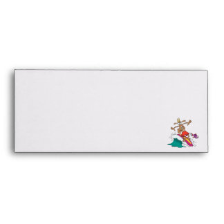 silly billy goat surfing surfer cartoon envelopes