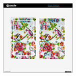 Silly Birds And Flowers Decal For Kindle Fire