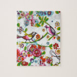 Silly Birds And Flowers Jigsaw Puzzles