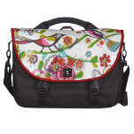 Silly Birds And Flowers Laptop Computer Bag