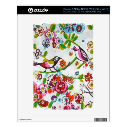 Silly Birds And Flowers NOOK Skin