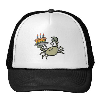 silly birthday crab trucker hat