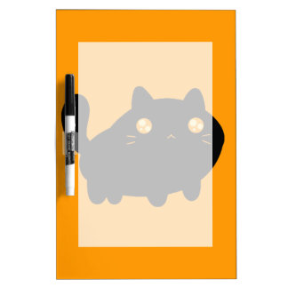 Silly Black Cat Dry-Erase Boards