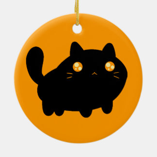 Silly Black Cat Christmas Tree Ornaments