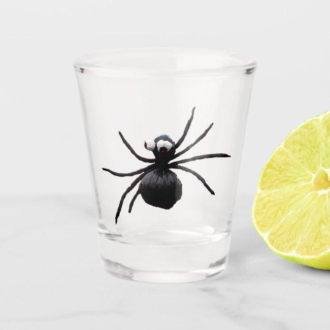 Silly Black Spider Animal Shot Glass