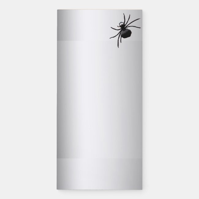 Silly Black Spider Magnetic Fridge Notepad