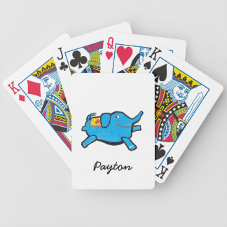 Silly Blue Elephant Bicycle Playing Cards