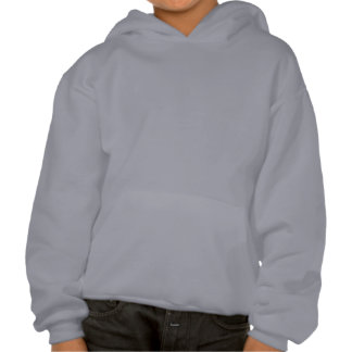 Silly blue monster grin boy's hooded sweatshirt