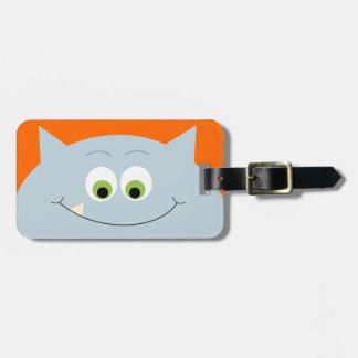 Silly Blue Monster Luggage Tag
