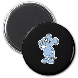 silly blue mouse 2 inch round magnet