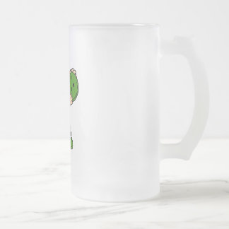 Silly Boy Bowler 16 Oz Frosted Glass Beer Mug