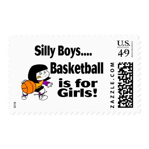 Silly Boys, Basketball Is For Girls Stamps