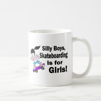Silly Boys, Skateboarding Is For Girls Mug