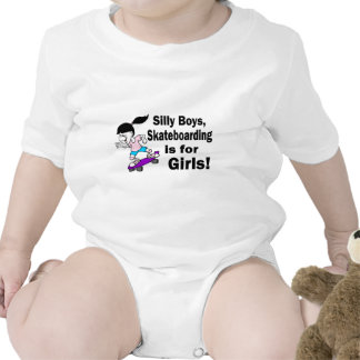 Silly Boys, Skateboarding Is For Girls Tee Shirts