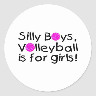 Silly Boys Volleyball Is For Girls Stickers