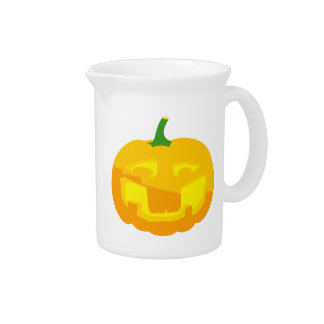 Silly Buck toothed Jack-O-'Lantern Beverage Pitcher
