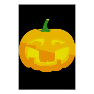 Silly Buck toothed Jack-O-'Lantern Poster
