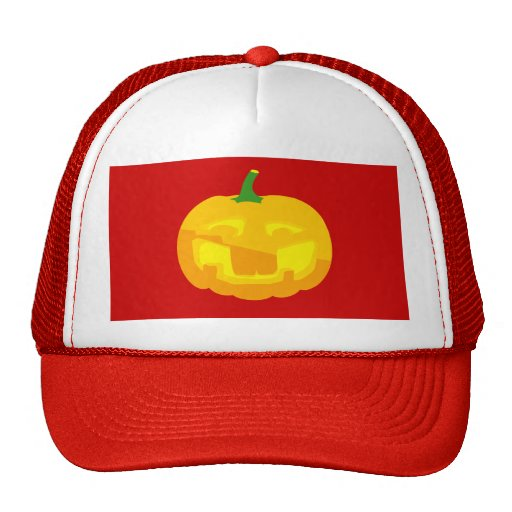 Silly Buck toothed Jack-O-'Lantern Trucker Hat