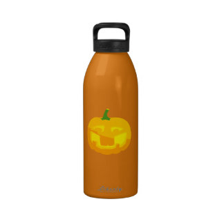 Silly Buck toothed Jack-O-'Lantern Water Bottle