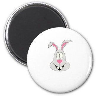 Silly bunny on t-shirts and gifts. 2 inch round magnet