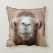 Silly Camel Photo Throw Pillow