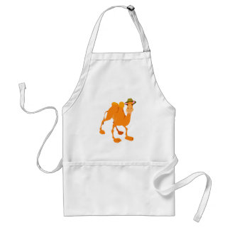 silly camel wearing hat aprons