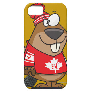 silly canadian hockey beaver cartoon iPhone 5 covers