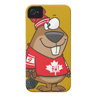 silly canadian hockey beaver cartoon iPhone 4 covers