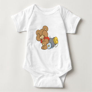 Silly Cannon Teddy Bear Baby Bodysuit
