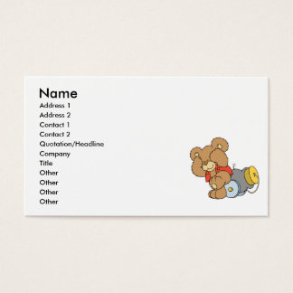 Silly Cannon Teddy Bear Business Card