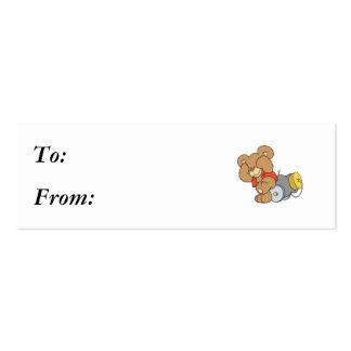 Silly Cannon Teddy Bear Business Card Templates