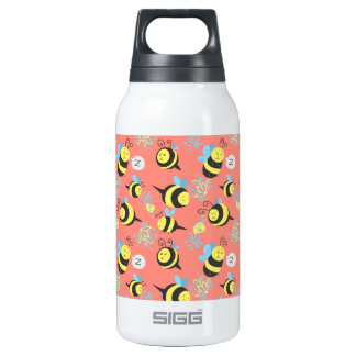Silly Cartoon Bees Pattern 10 Oz Insulated SIGG Thermos Water Bottle