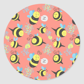 Silly Cartoon Bees Pattern Stickers