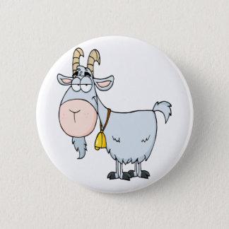 silly cartoon billy goat button