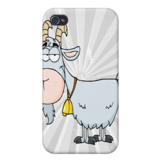 silly cartoon billy goat case for iPhone 4