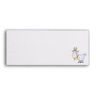 silly cartoon billy goat envelope
