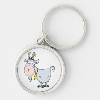 silly cartoon billy goat keychain