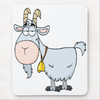 silly cartoon billy goat mouse pad