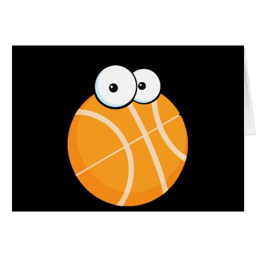 silly cartoon character basketball sports cartoon greeting cards