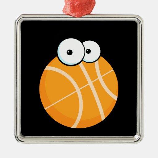 silly cartoon character basketball sports cartoon christmas ornament