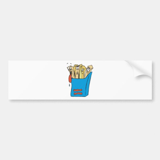 silly cartoon french fries bumper stickers