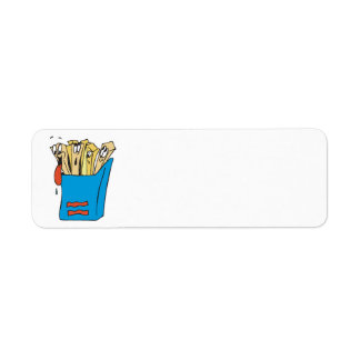 silly cartoon french fries custom return address labels