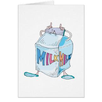 silly cartoon milk character card