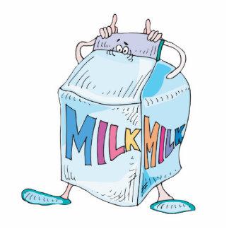 silly cartoon milk character standing photo sculpture